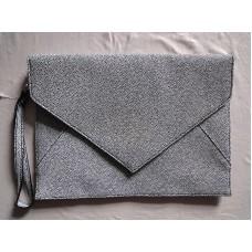 全新 黑白色 公文袋 多用途袋 (凹凸紋)