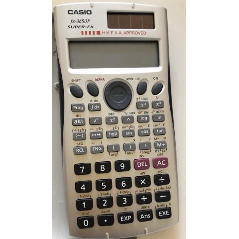 CASIO計數機 型號fx3650p