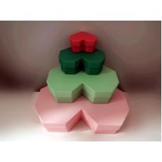 全新 心形紙盒4個一套 (粉紅/綠/深綠/深粉紅)