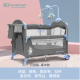 KinderKraft 德國嬰兒床100%全新未使用(藍色邊,灰色布料)