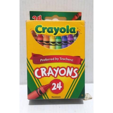 蠟筆 Crayola Crayons 24種顏色, 9成5新,接近全新,7166200024。美國制造。盒裝 9.5 cm X 7 cm。無設郵寄,只設面交。