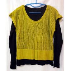 全新 魚網衫 兩件頭 (黃綠色)