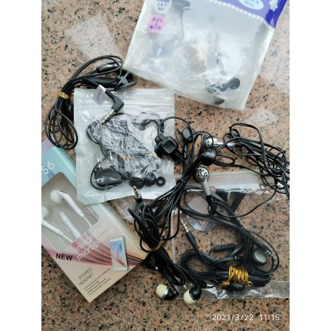 Many intergrated microphone-stereo headset