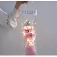 粉色康乃馨花 (有燈) 母親節禮物