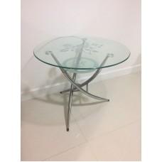 圓形玻璃餐枱