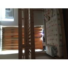 宜家实木两层单人床,单人床及床垫