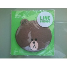 LINE Brown Sticky Note