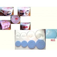 (全新) Minna no Tabo 大口仔700ml陶瓷湯碗/杯連包裝盒 及 (全新) 耐熱玻璃碗連膠蓋一套四件