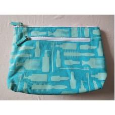 全新 化妝袋 雜物袋 收納袋 (粉藍) 2 個