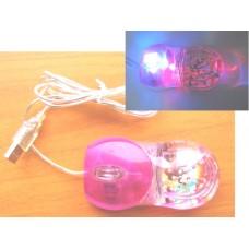 (95%新) USB 桃紅色 LED 發光變色光學滑鼠 (USB Optical  Mouse)