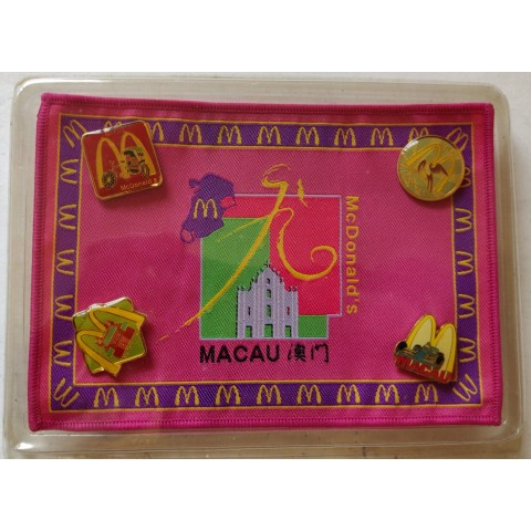 McDonald's Macau limited edition souvenir and pins