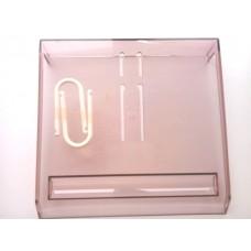 (99%新) 茶色透明膠日曆座