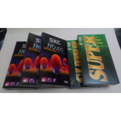 (全新未開封) SKC HQ195 錄影帶3盒 及 SUPER HG E-195 錄影帶2盒