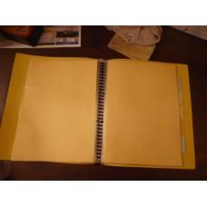 黃色F4活頁膠套 file (有divider)
