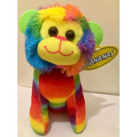 8吋(16cm)彩虹獅子長毛毛公仔
