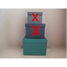 全新 方形 紙盒 (藍綠)