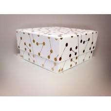 全新 方形 紙盒 (金白)