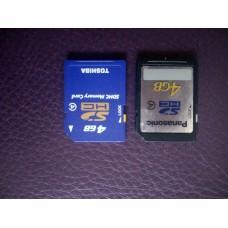 Panasonic,toshiba SD card 4G 2pc made in japan $25