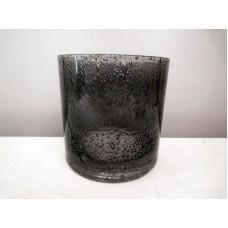 全新 玻璃 杯 花瓶 蠟燭座 (黑色)