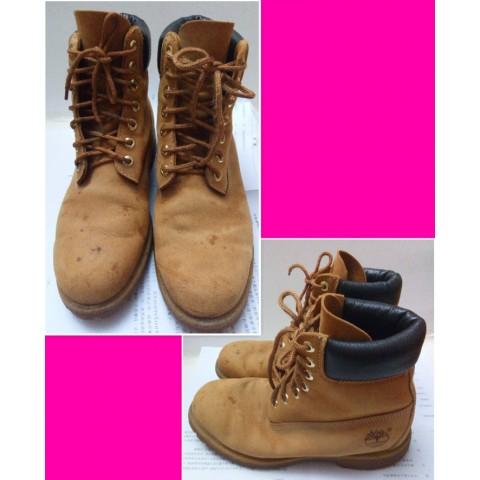 Timberland leather boot 黃靴 (EU42)