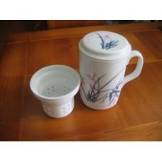 全新瓷杯連茶格