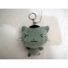 全新 灰色貓 匙扣