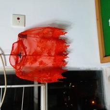 紅色中式披肩 斗篷