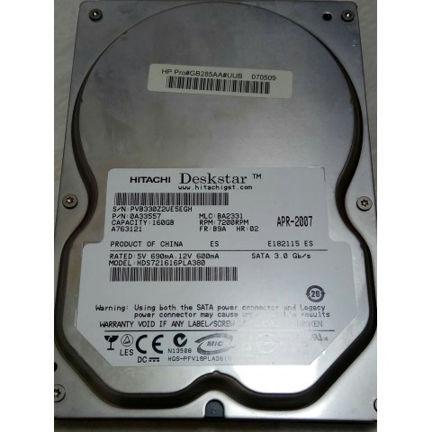 Hitachi SATA HD 160gb