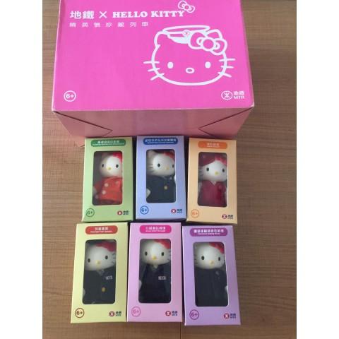 (二手)MTR Hello Kitty 地鉄精英、六個公仔+列車+原裝CD